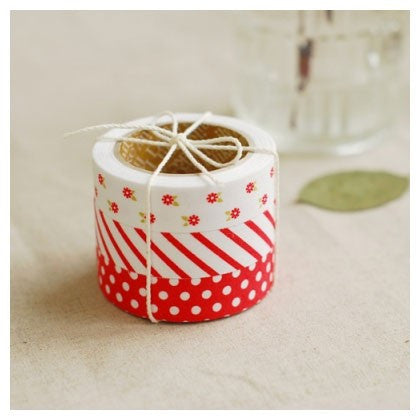 Fabric Tape (Set of 3) - Red Ribbon