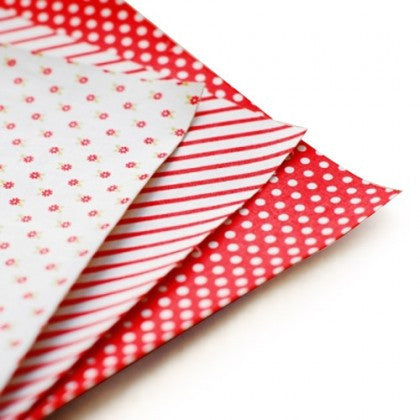 Fabric Sticker Sheets (Set of 3) - Red Ribbon