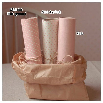 Polka Dot Fabric Sticker - Pink
