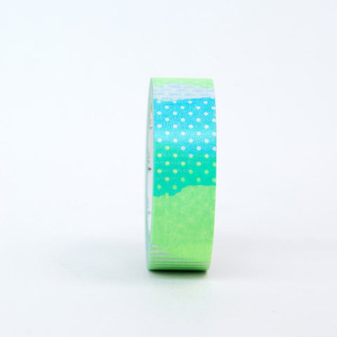 MT Masking Tape - Patchwork Blue & Lime