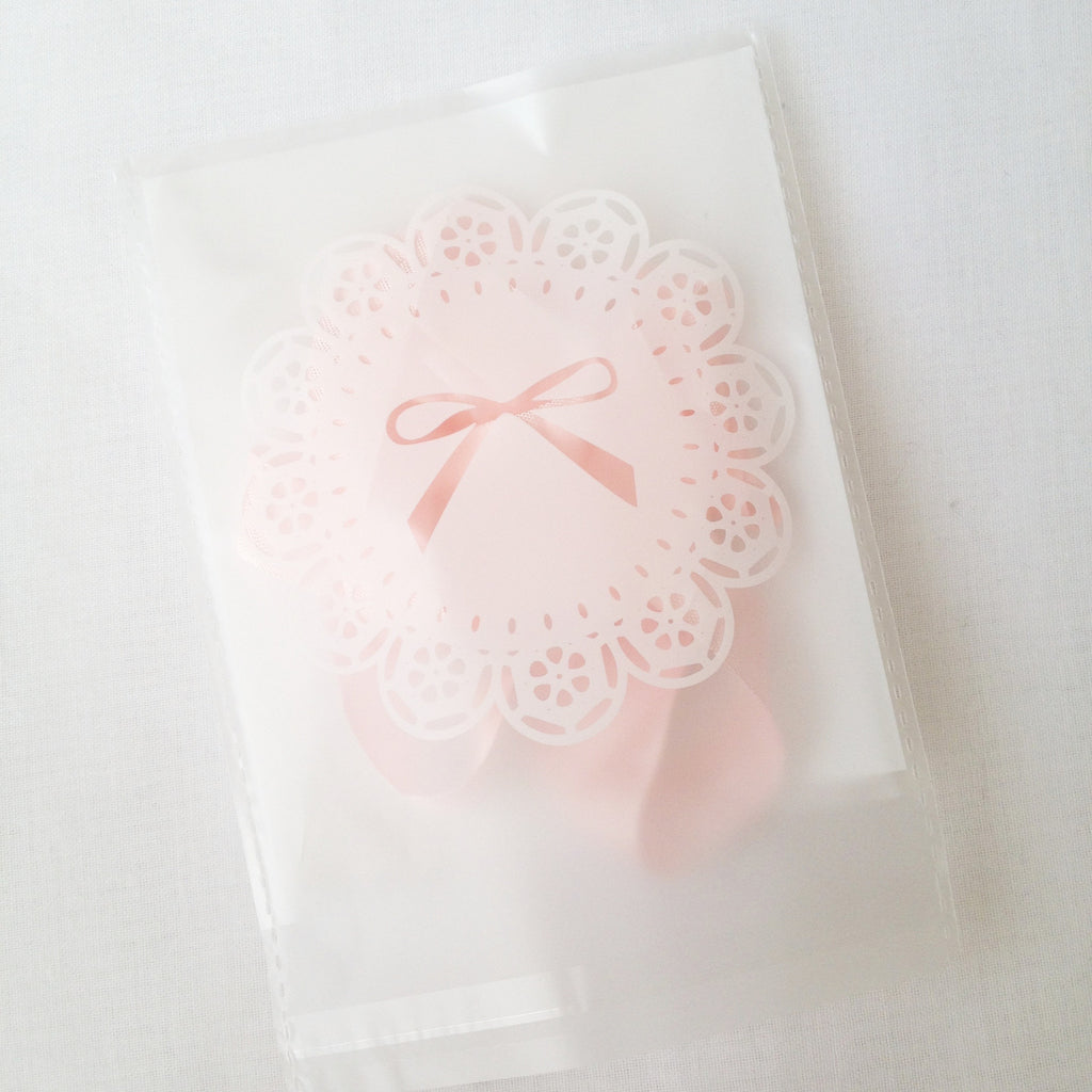 White Lace Translucent Gift Bag