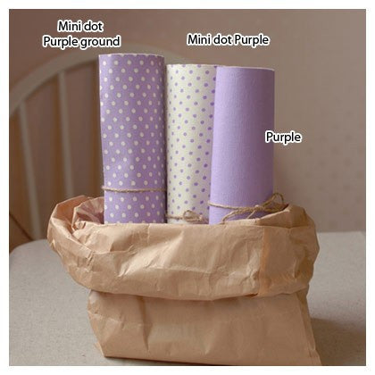 Polka Dot Fabric Sticker - Purple
