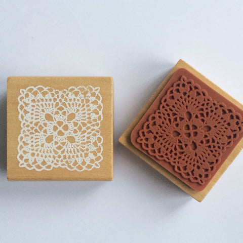 Square Lace Doily Stamp - Large