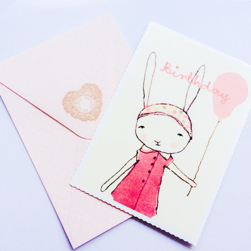 Maileg Postcard - Birthday Bunny