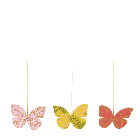 Maileg Butterfly Paper Ornaments - Set of 3