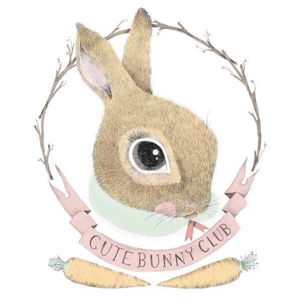 Cute Bunny Club Mini Card