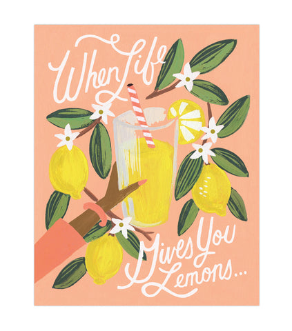 Rifle Paper Co Lemons to Lemonade Print