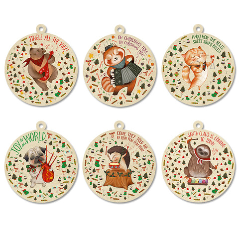 Animal Carols Swing Tag Set