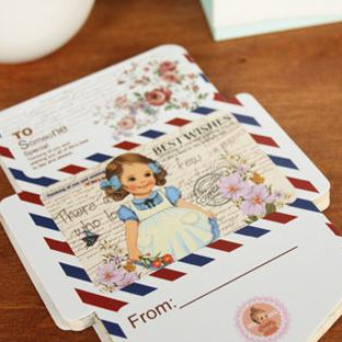 Doll Mini Envelope Notepad