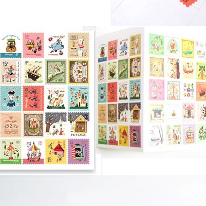 Vintage Illustration Stamp Stickers