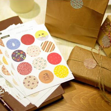 Spring Dots Sticker Set