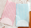 Lace and Blue Stripes Mini Translucent Gift Bags