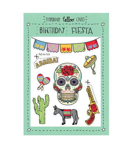 TMOD Tattoo Card - Birthday Fiesta