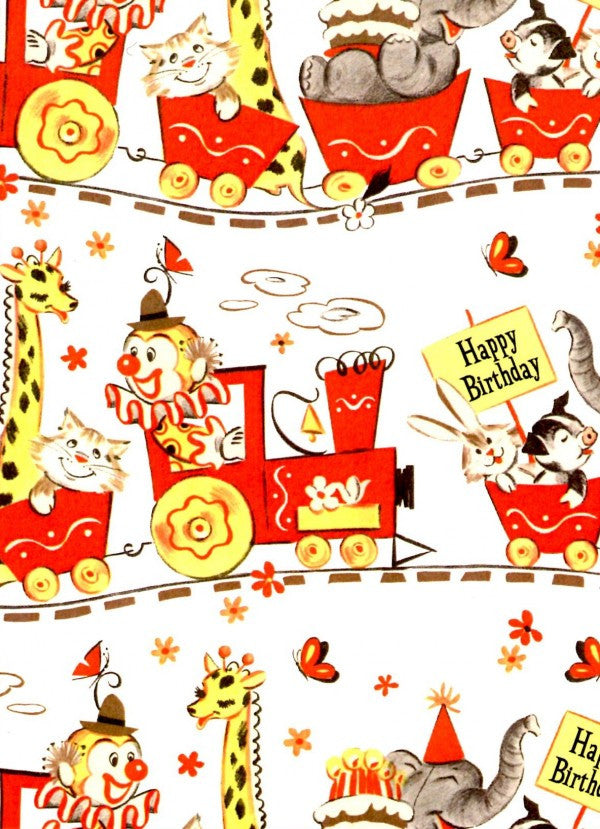 Vintage Clowns Happy Birthday Card