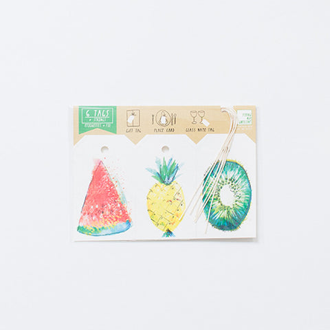 Gift Tag Set - Fruits