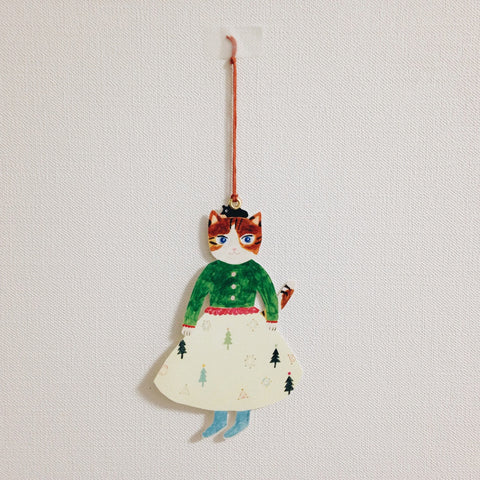 ai. by Aiko Fukawa Die-cut Card - Cat With Skirt