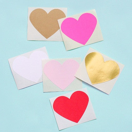 Large Heart Stickers