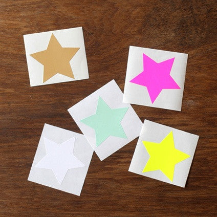 Neon Large Star Stickers