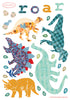 Mini Dinosaurs Fabric Decal
