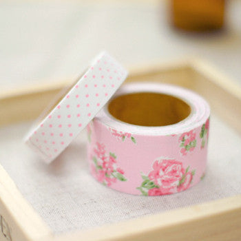 Fabric Tape (Set of 2) - Floral