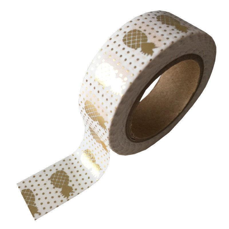 Masking Tape Gold Foil Pineapple