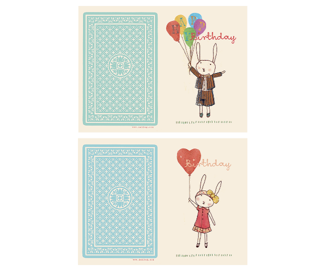 Maileg Happy Birthday Card - Boy or Girl