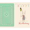 Maileg Happy Birthday Bunny Card - Boy