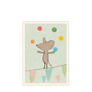 Maileg Gift Card - Juggling Mouse