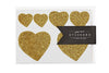 Glitter Heart Stickers