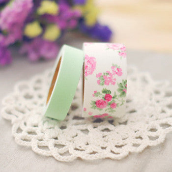 Fabric Tape (Set of 2) - Greeny
