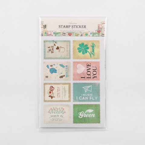 Ancien Stamp Stickers - Happiness