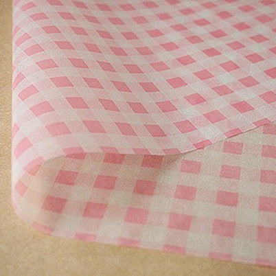Gingham Parchment Paper - Pink