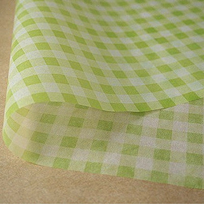 Gingham Parchment Paper - Green