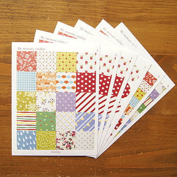 My Memory Fabric Sticker Sheet