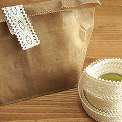 Natural Lace Fabric Tape - Beige