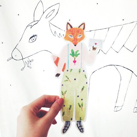 ai. by Aiko Fukawa Die-cut Card - Fox