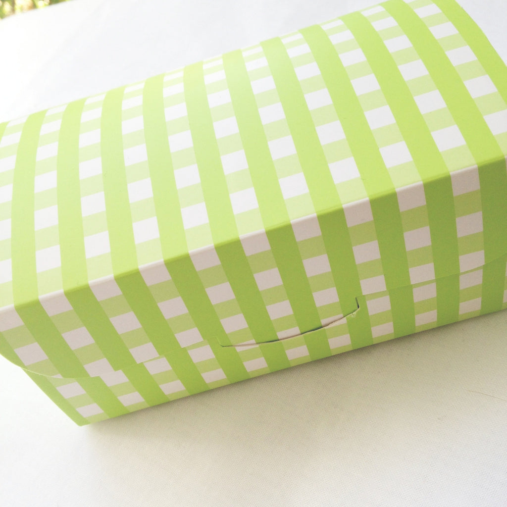 Gingham Gift / Favour Box - Green