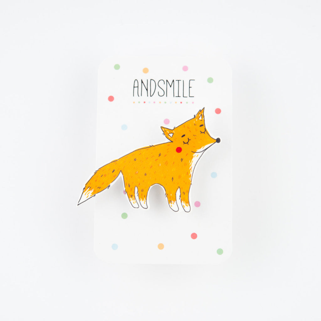 And Smile Studio Brooch - Fox