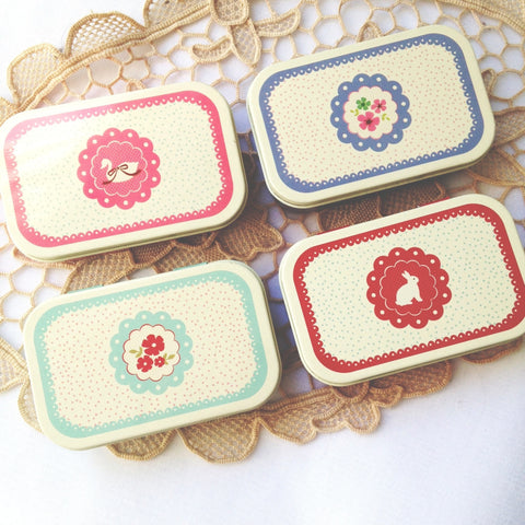 Lace Flower Tin Case