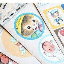 Vintage Lovely Child Stickers