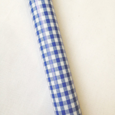 Gingham Wrapping Paper - Blue