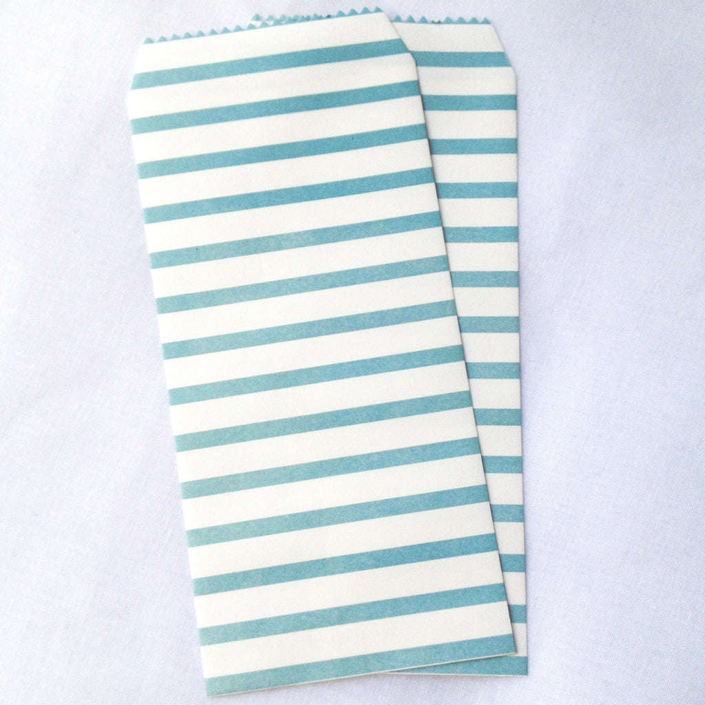 Paper Gift Envelopes - Green & White Stripes