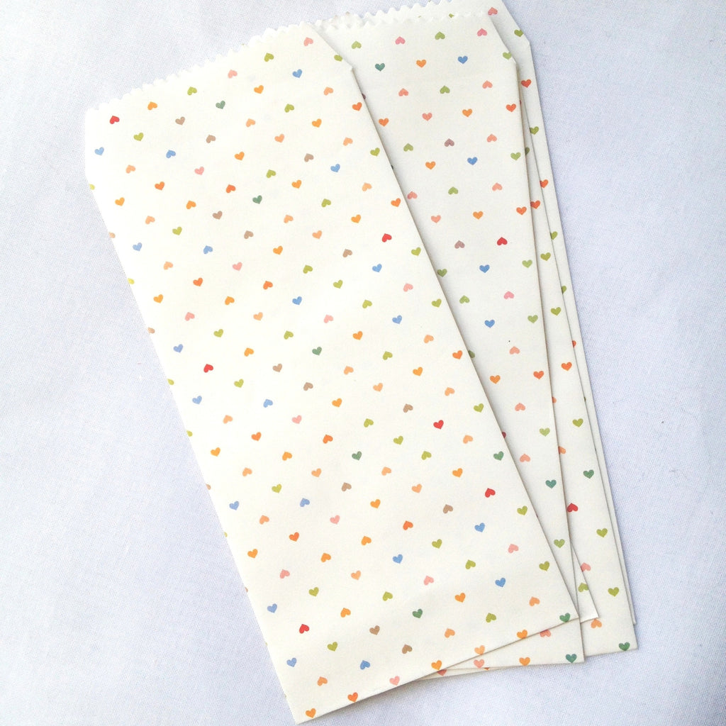 Paper Gift Envelopes - Tiny Colourful Hearts