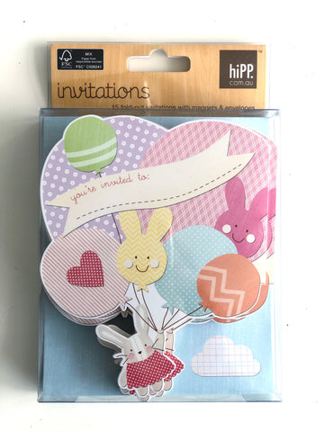 hiPP Balloon Bunch Invitation Kit