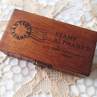 Vintage Alphabet Stamp Set - Uppercase