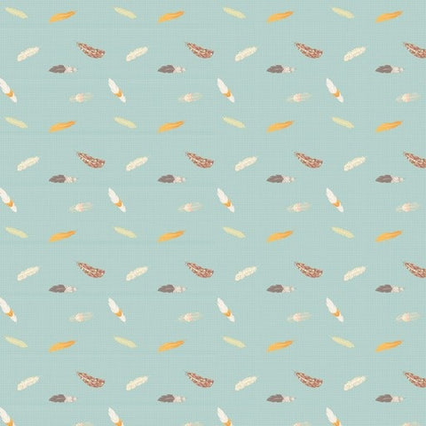Love Mae Floating Feathers Wrapping Paper