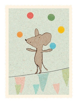 Maileg Card - Juggling Mouse