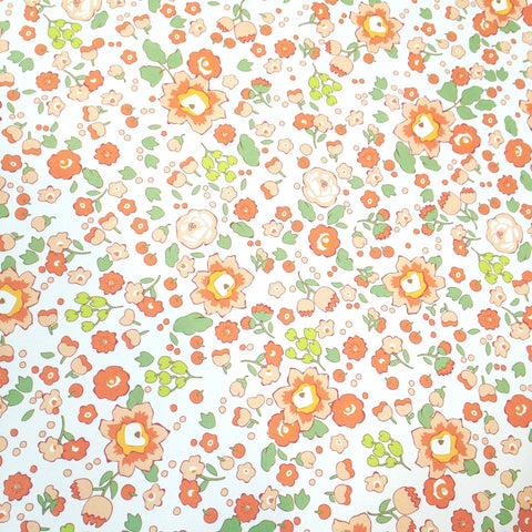 Floral Wrapping Paper - Orange Blossom