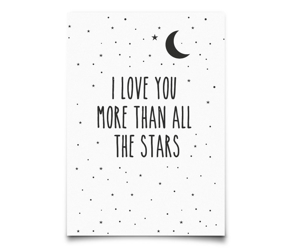 Eef Lillemor 'I love you more than all the stars' Postcard