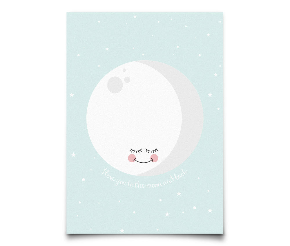Eef Lillemor 'I love you to the moon and back' Postcard - Mint